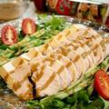 ◆オイマヨで豆腐と鶏ハムのサラダ♪~緩やか糖質制限中