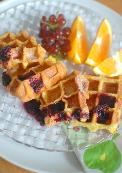 シナモンワッフレンチトースト Waffle French Toast with Cinnamon
