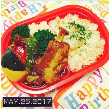★お弁当の日③〜5歳おめでとう♪スペアリブ弁当〜☆