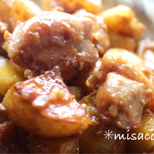 *炊飯器DE☆鶏とじゃがいもの甘辛煮と、3年ぶりの仕事復帰したみさころの生活。*
