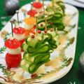 ☆きゅうりのクリスマスツリーとプチトマトサンタ☆ぬか美人でクリスマスパーティー☆