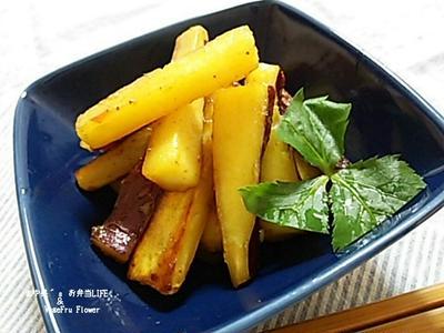 【根菜レシピ】さつま芋のスイートチリソース炒め