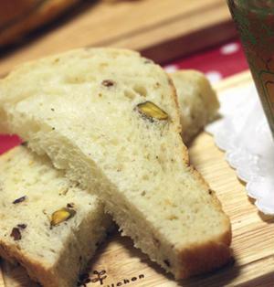 """☆★☆マヨが決めて♪""""ピスタチオとクリームチーズのハーブ食パン""""☆★☆"""