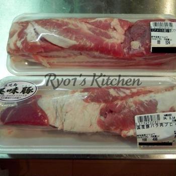 豚の角煮で食べ比べ!