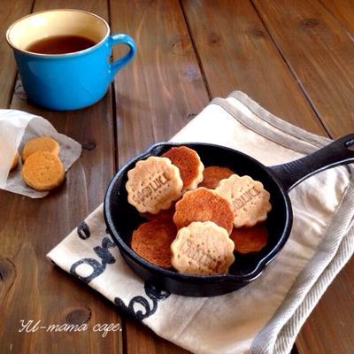 フライパンできなこクッキー*バター*卵*計り*オーブン不使用*アレルギーさんにも。