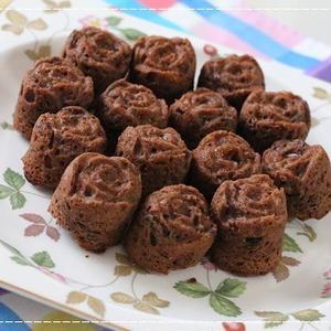 ダブルチョコレートとミックスフルーツの薔薇マフィン