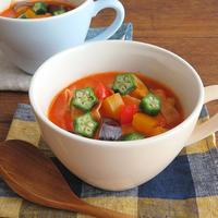 栄養たっぷり◎ビタミン補給☆夏野菜のトマトクリームスープ