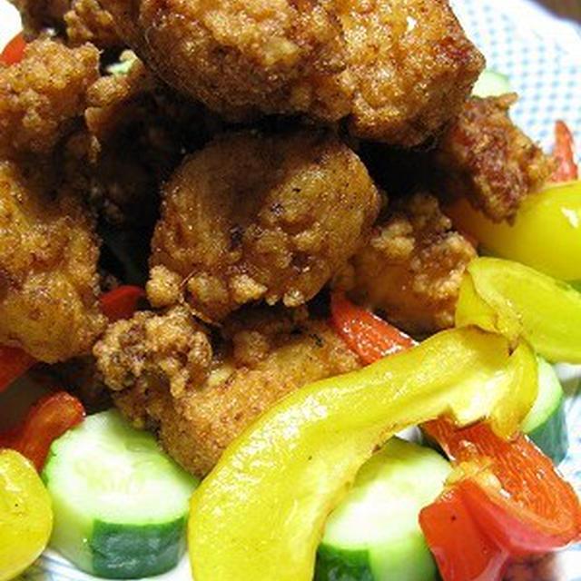 冬瓜のそぼろあんかけ&鶏から揚げ