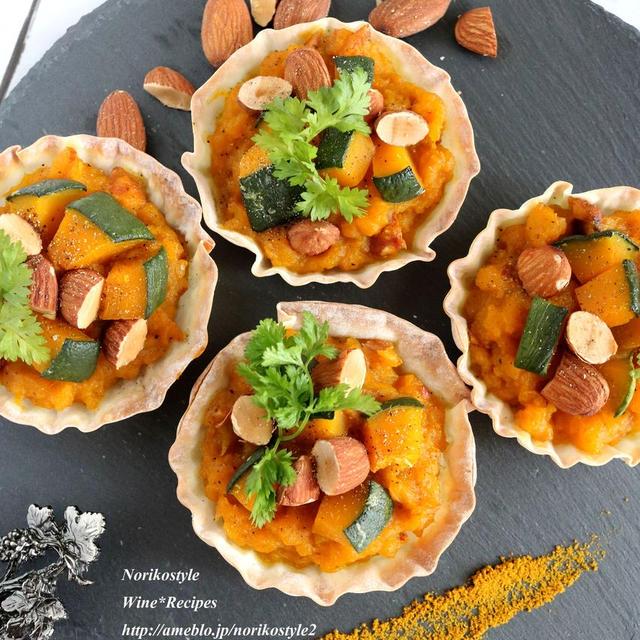 <レシピ>ハロウィンにも♪かぼちゃのカレー風味お食事タルト