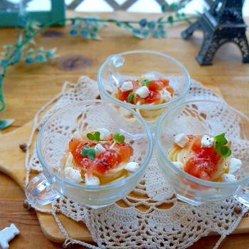 (トマト万能ソースパート3)簡単!トマトとクリームチーズのミニパスタ