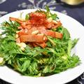 春菊とベーコンの中華風ホットサラダ。香りを生かした春のおつまみ。