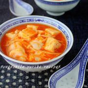 とろとろ豆腐とふわふわ卵のチリスープ