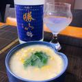 鱧の子と玉蜀黍の冷やし茶わん蒸し、ぐれ昆布締め湯引き、鱧と加賀太胡瓜の翡翠煮、玉蜀黍ご飯