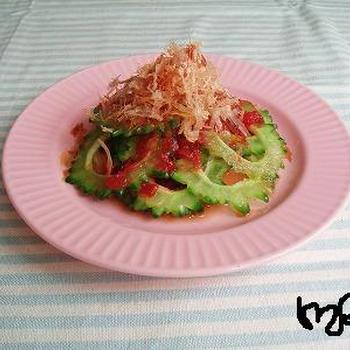 ゴーヤの梅ぽんサラダ