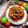 ♡超簡単モテレシピ♡きのこのミートソースごはん♡【#ひき肉#トマト缶不要】