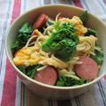 1.22 材料使い回し 菜の花のパスタでお弁当と簡単朝ごはん by YUKAさん