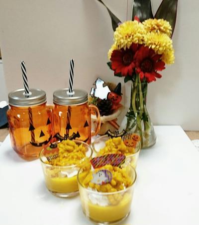 ハロウイン★マシュマロで簡単!かぼちゃのムース