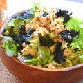 包丁無用。秘伝味タッグの海苔ポンマスタード豆腐サラダ(糖質3.6g) by ねこやましゅんさん
