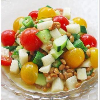 ネバネバ野菜のオリーブオイル和え♪