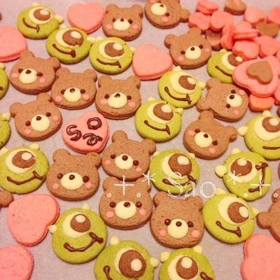 * しっとり♡うまい♡可愛い♡クマちゃん&マイクのクッキー *