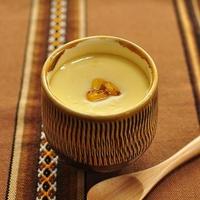 焦がしバター醤油のコーンクリーム茶碗蒸し