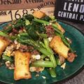 旬の小松菜が美味しいミンチ厚揚げで卵とじ