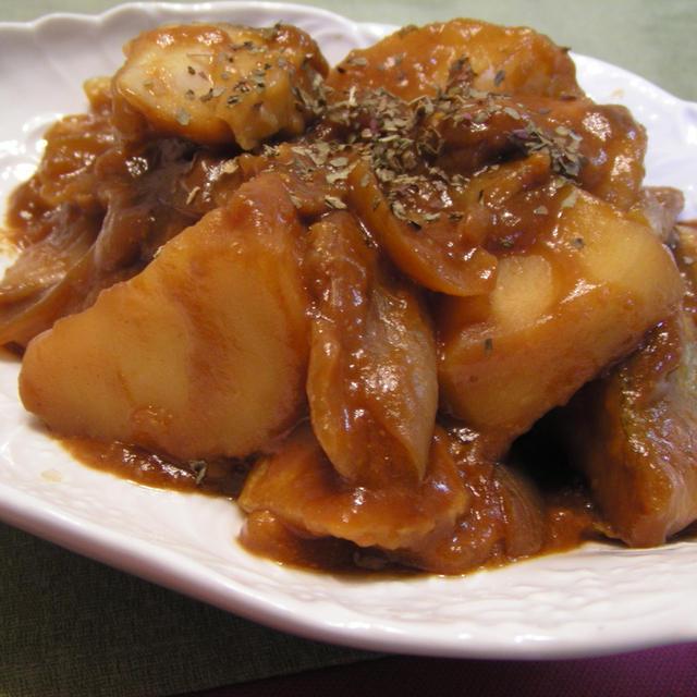 鱈とじゃがいもの韓流煮