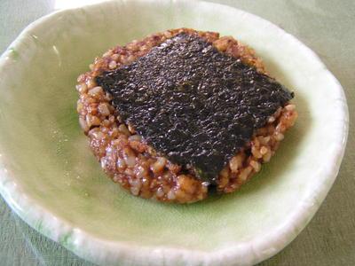 クルミ味噌ご飯の磯辺焼き