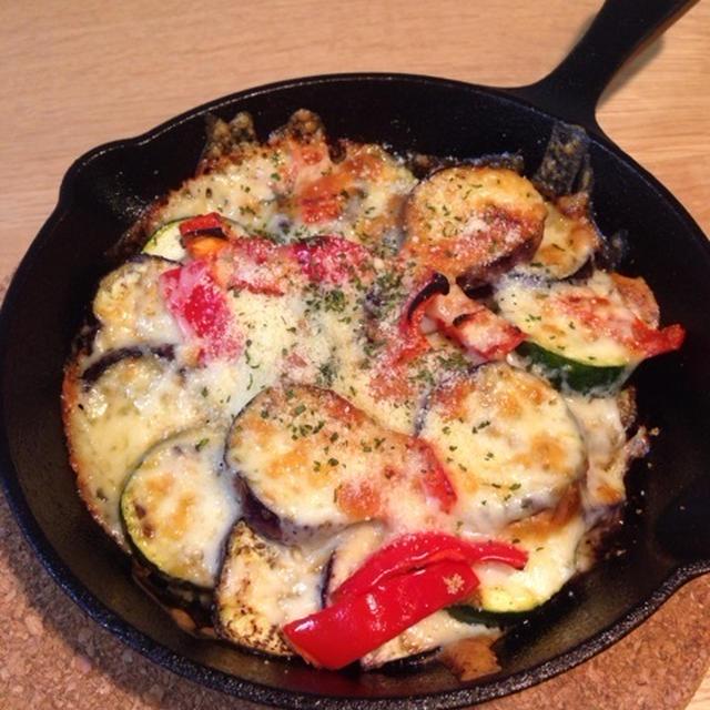 夏野菜のスパイス&チーズグリル