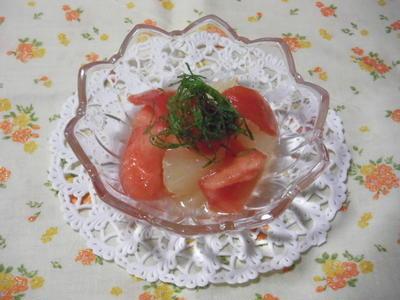 フロリダ産グレープフルーツとトマトのさっぱりサラダ