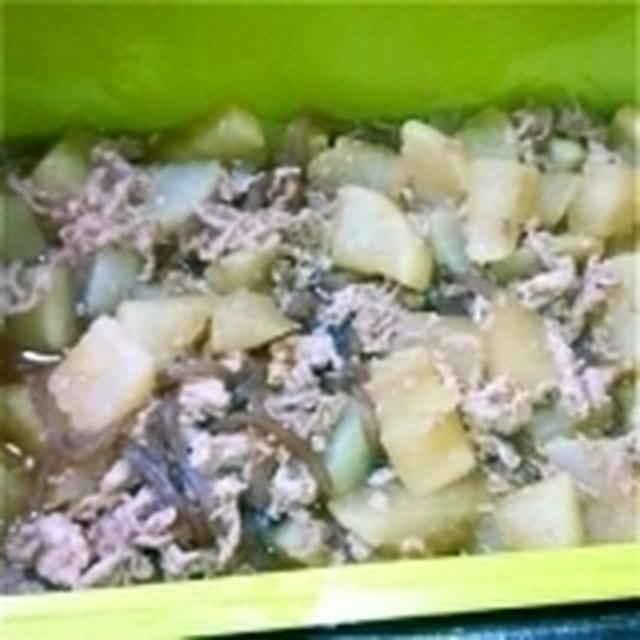 大根と豚こまの煮物