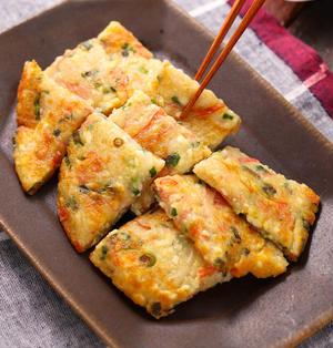 カニカマ豆腐のもちもちお焼き【#簡単 #時短 #節約 #ヘルシー #おつまみ #副菜 #一正蒲鉾 #PR】