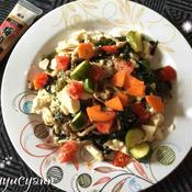 豆腐とワカメの梅肉和えサラダ