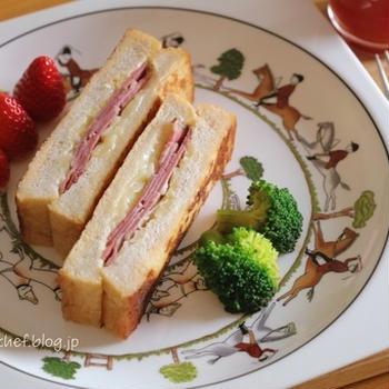 【朝ごはん】買ったパンがおいしくなったもんで。
