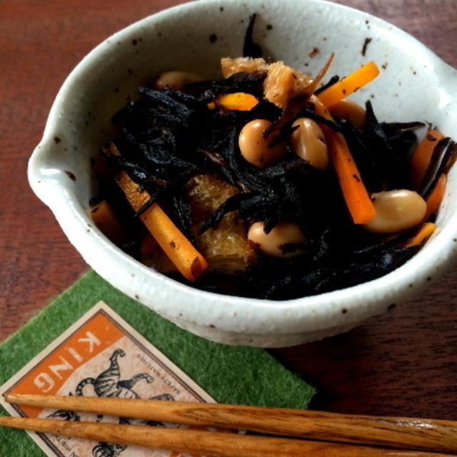 【レンジで1発!副菜・常備菜】ジップロック1つで!ひじきの煮物と、くるみパンオブザイヤー
