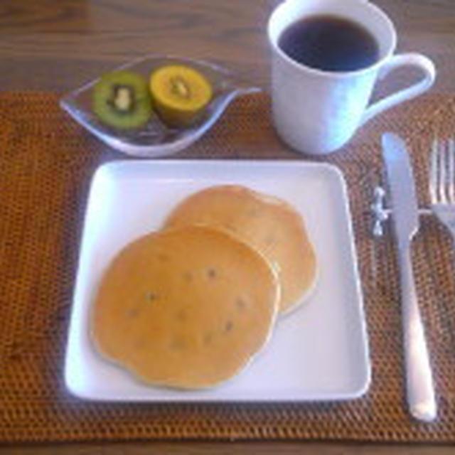 7/17 ブランチ:黒豆パンケーキ(きなこ入り)<簡単レシピあり>