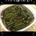 ワラビの麺つゆ漬け