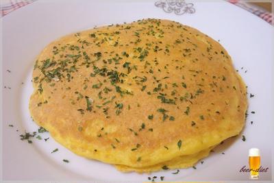 しっとりしゅわっおからのパンケーキ風オムレツ