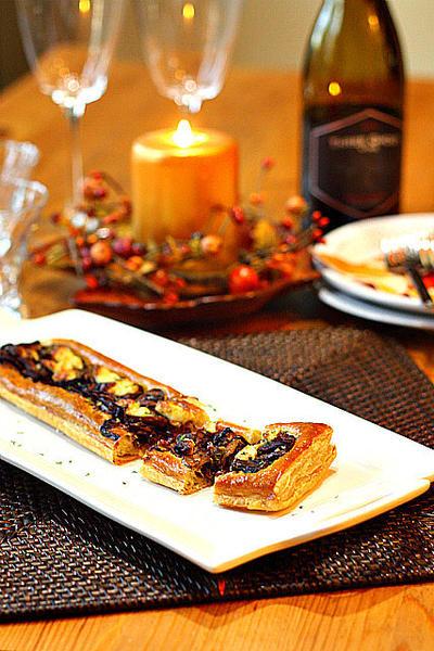 Caramelized Onion & Mushroom Pastry Bites