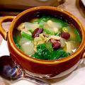 ほうれん草とお豆のスープ
