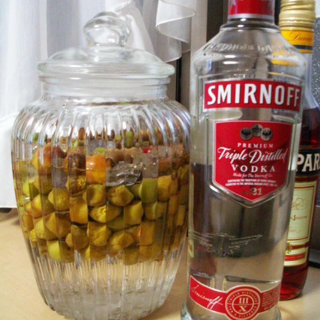 ウォッカで作る梅シロップレシピ&冷蔵庫一掃夕食とモスコミュール♪