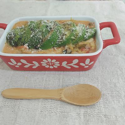 脂肪燃焼スープとアボカドの玄米リゾット