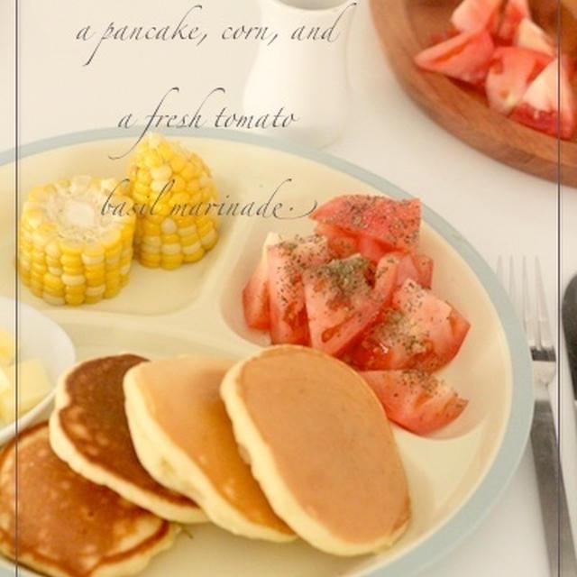 豆乳パンケーキのブランチ☆
