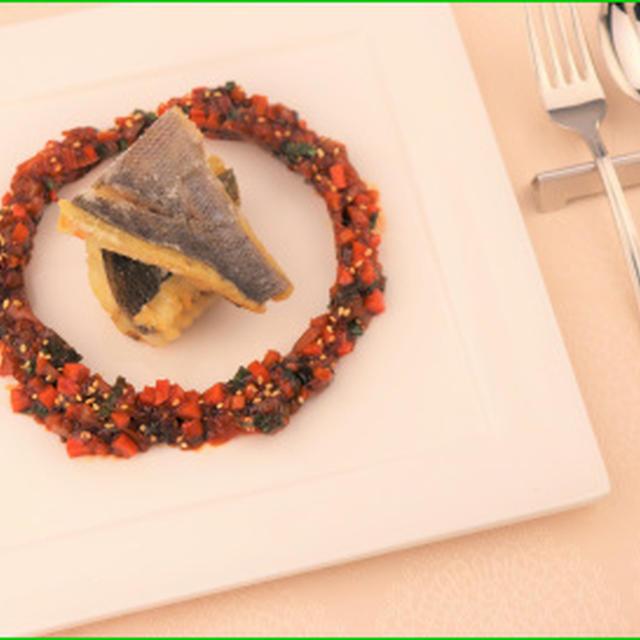 イサキの唐揚げと韓国風ピリ辛タレ