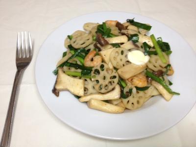 パスタの前菜に!5種類の彩り食材のエリンギとエビのバターしょうゆ炒めレシピ