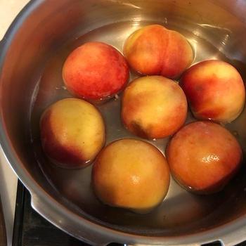 【圧力鍋レシピ】あっという間!桃のコンポート