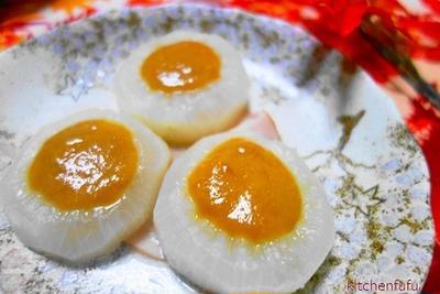 大根煮の卵黄バター味噌のせ♪