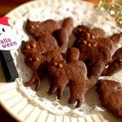 シナモンチョコ猫クッキー