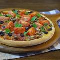 トマトときのこのクリスマスピザ by KOICHIさん