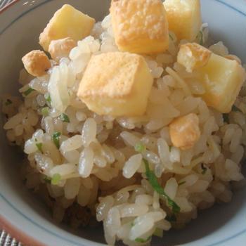 ポン酢ご飯『焼けるチーズ』トッピング